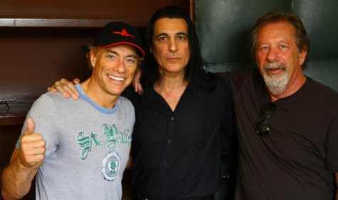 Joey DeMaio com Jean Claude Van Damme e o produtor Moshe Diamant